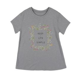 레이온슬럽꽃원포인트 반팔티셔츠