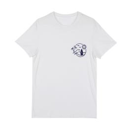 레이온슬럽서핑원포인트 반팔티셔츠, 남여공용