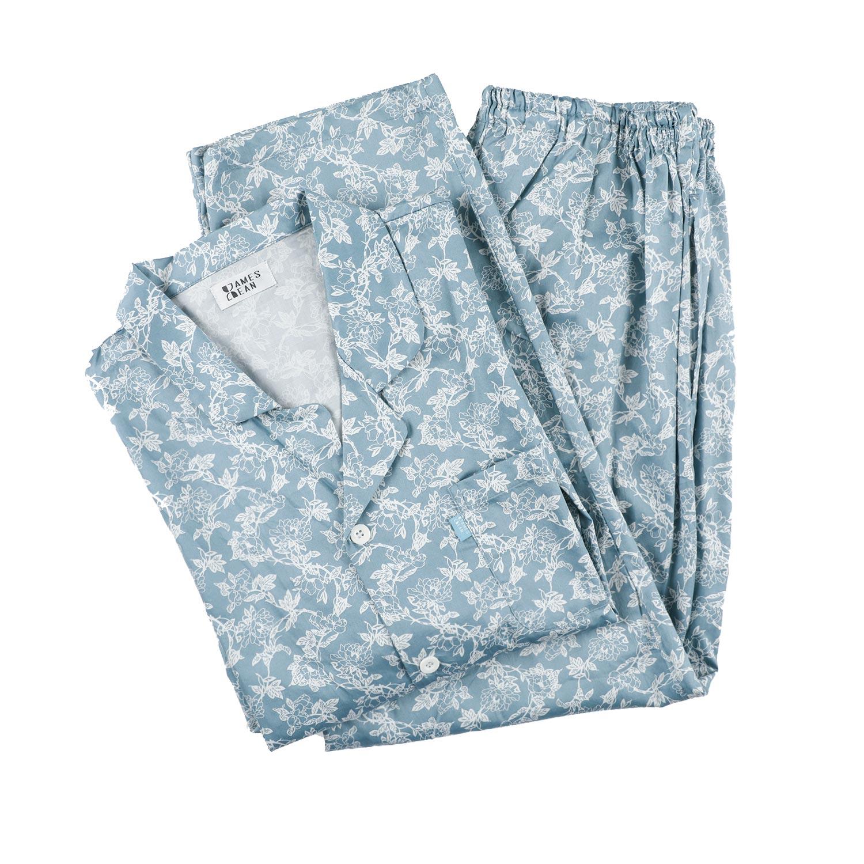 블루 꽃나염 파자마 세트